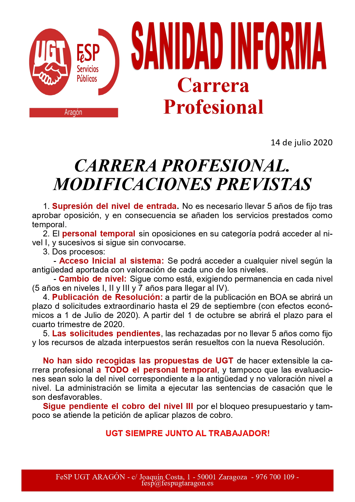 Carrera Profesional 14 jul 2020